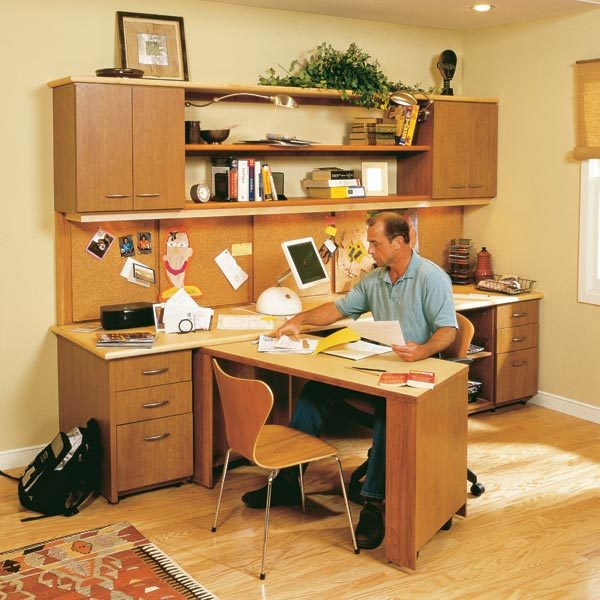 How to build a home office the family handyman how to build a home office solutioingenieria Images