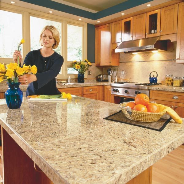 How to install granite countertops kitchen tile the for 1 inch granite countertops