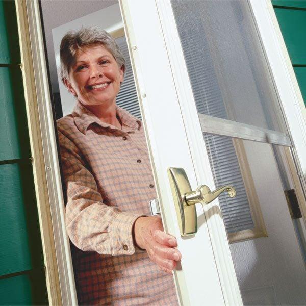 Replace A Broken Storm Or Screen Door Handle The Family