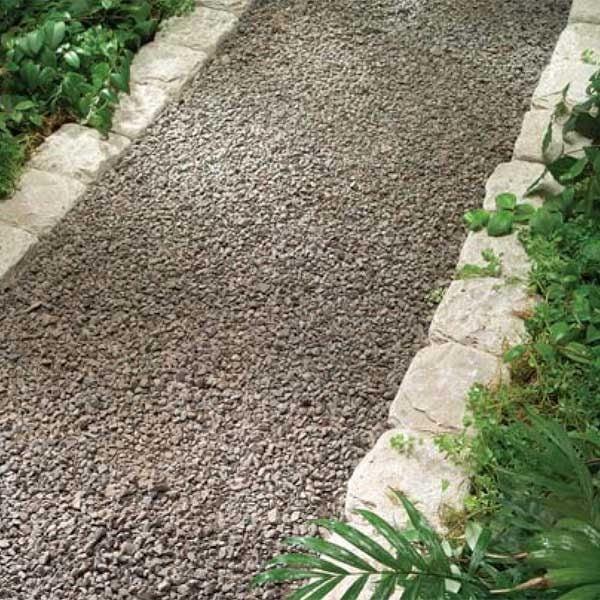 Pea-Gravel Walkway