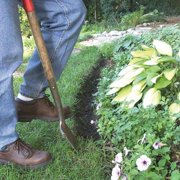 Landscape edging the family handyman for Cheap diy garden edging
