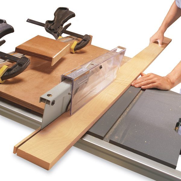 How to use a table saw ripping boards safely the family for Table use th