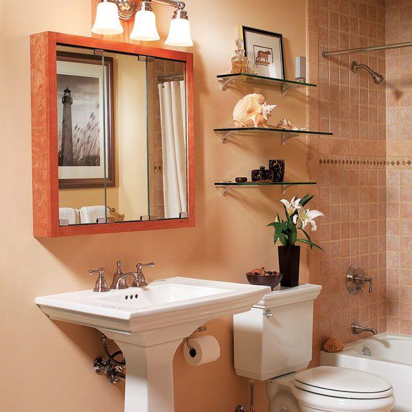 Three bathroom storage ideas the family handyman for Bathroom storage design ideas