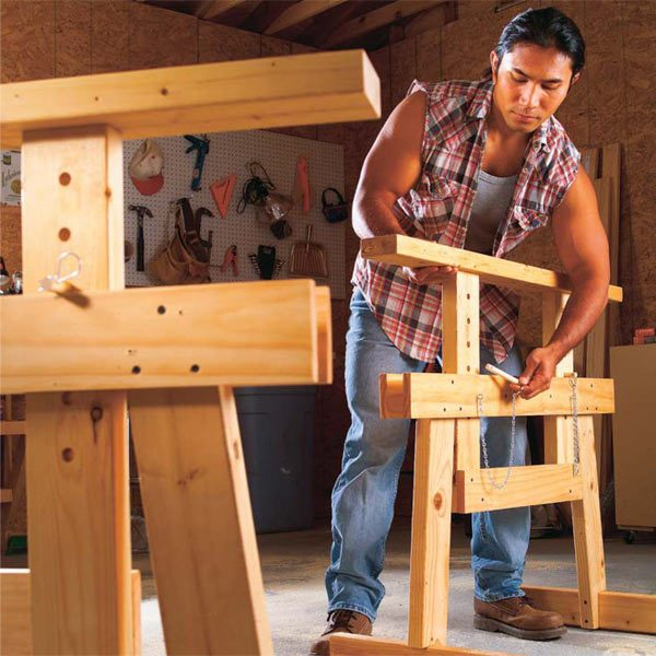 Free Sawhorse Woodworking Plans