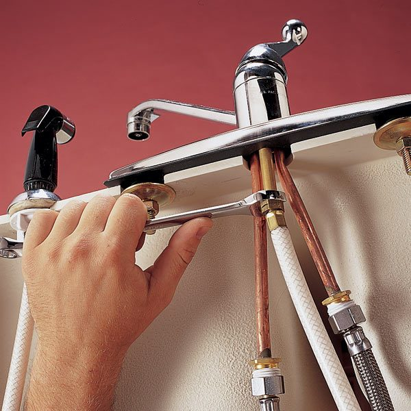 superb How To Change A Kitchen Faucet With Sprayer #6: Replace a Sink Sprayer and Hose