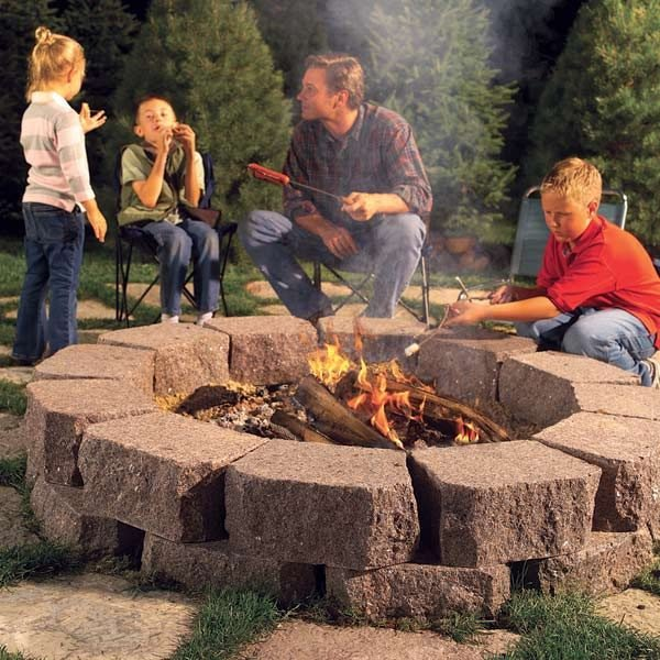 how to build a stone fire ring the family handyman