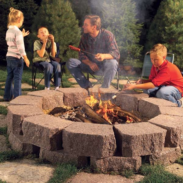 how to build a stone fire ring the family handyman. Black Bedroom Furniture Sets. Home Design Ideas
