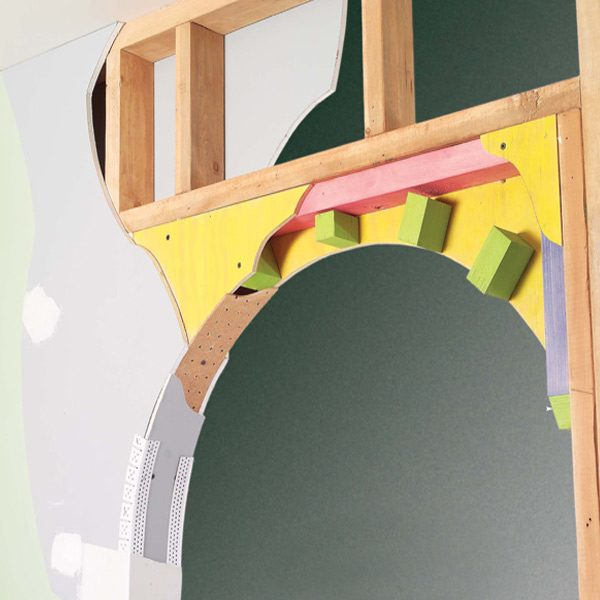 how to draw an arch for doorway