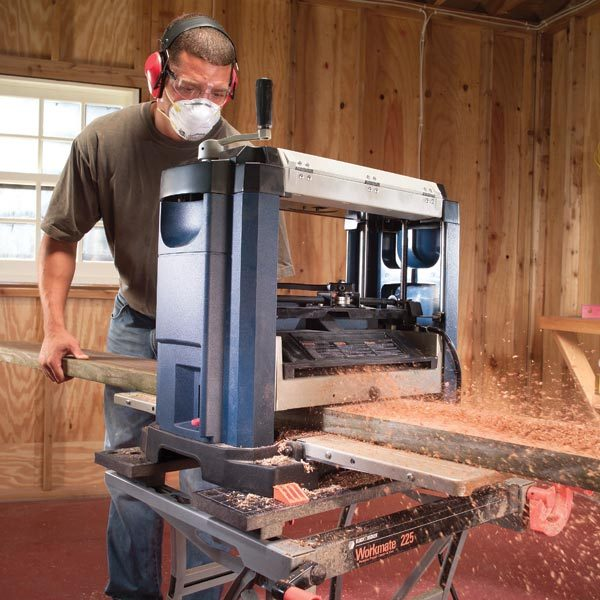 How To Use A Bench Top Planer The Family Handyman