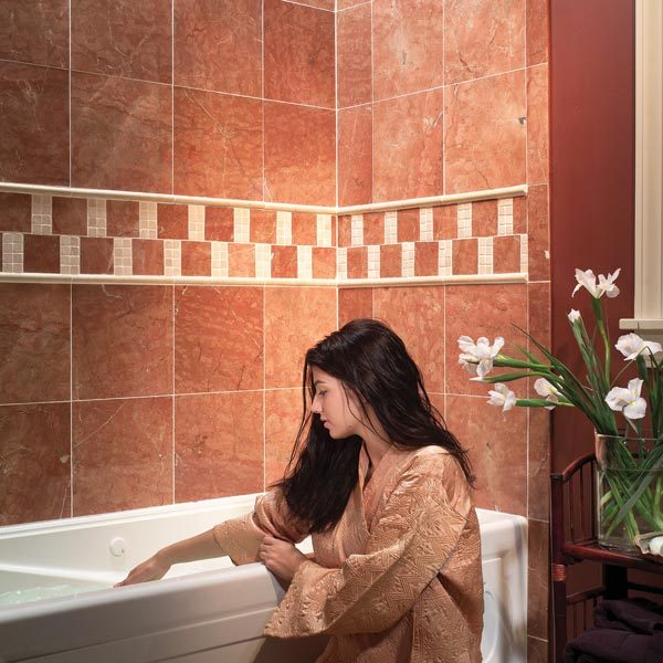 How To Do Wall Tile In Bathroom: How To Install Natural Stone Tile