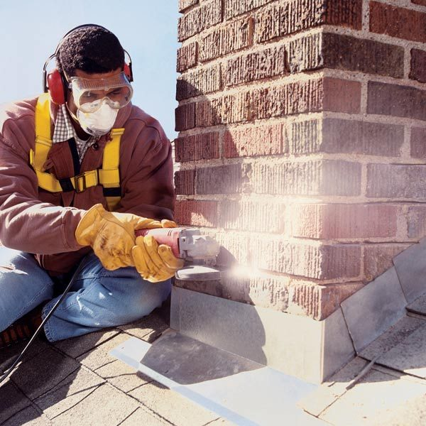 Installing Chimney Flashing The Family Handyman
