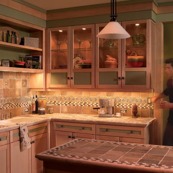How to install under cabinet lighting in your kitchen for Installing kitchen cabinets