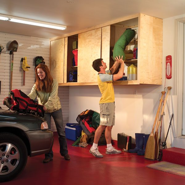 Installing large garage cabinets the family handyman installing large garage cabinets solutioingenieria Image collections