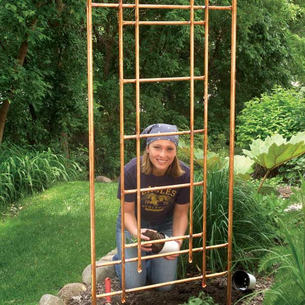 Gentil How To Build A Copper Trellis For Your Garden