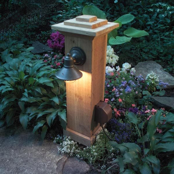 do it yourself outdoor lighting. run an underground electrical line into the garden to power outdoor light or a pond pump hereu0027s quickest and cheapest method for bringing do it yourself lighting h