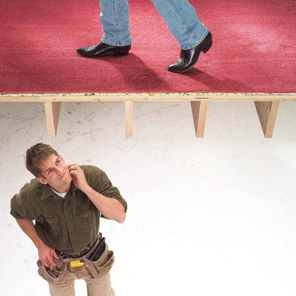how to fix a squeaky floor under linoleum