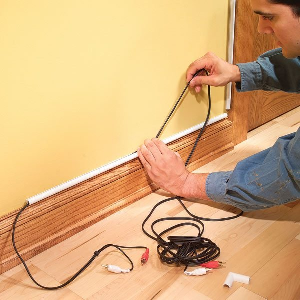 how to hide wiring speaker and low voltage wire the family handyman how to hide wiring speaker and low voltage wire