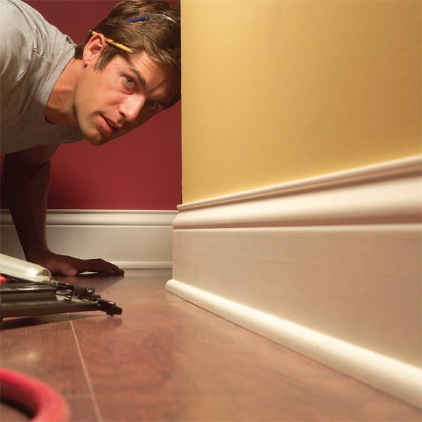 How To Install Baseboard Molding, Even On Crooked Walls | The ...