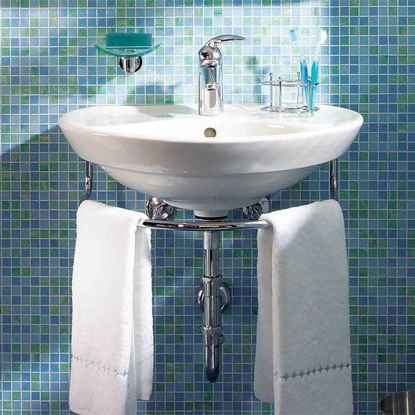 installing a bathroom sink wall hung sink the family handyman. Black Bedroom Furniture Sets. Home Design Ideas