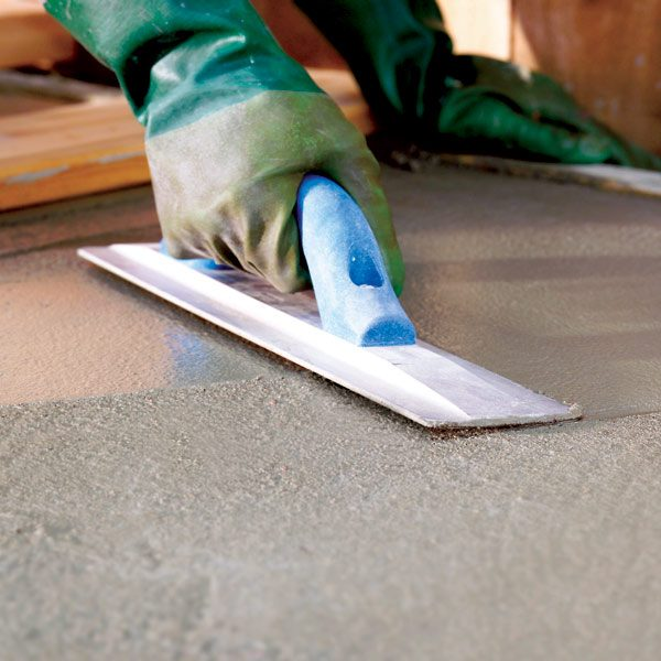How To Finish Concrete The Family Handyman