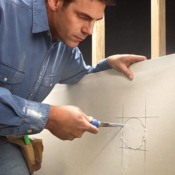 Cutting A Hole In Wall : How to cut drywall for an opening the family handyman