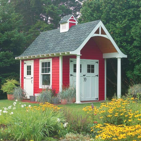 Schoolhouse storage shed the family handyman for Outdoor storage shed plans