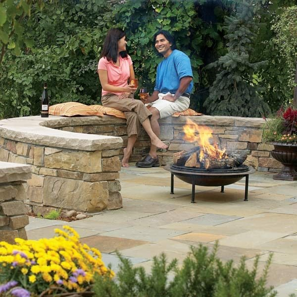 Beau Build A Flagstone And Stone Block Patio