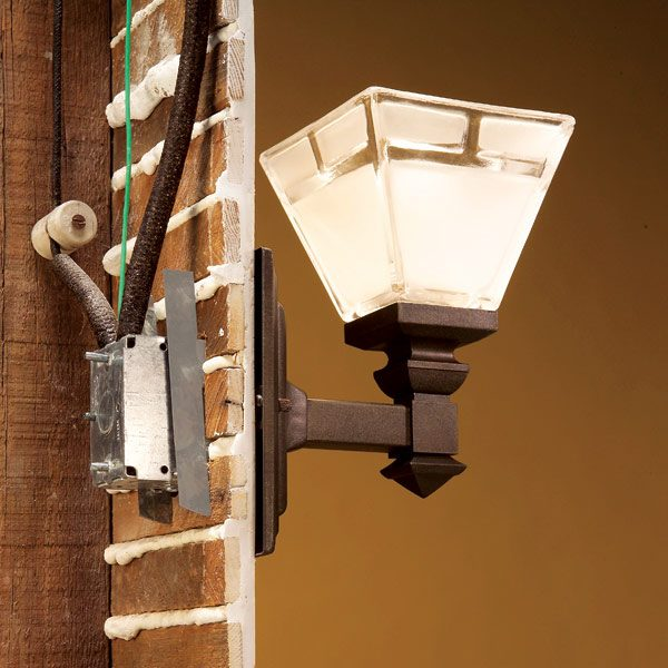 Install Porch Light Junction Box: How To Connect Old Wiring To A New Light Fixture