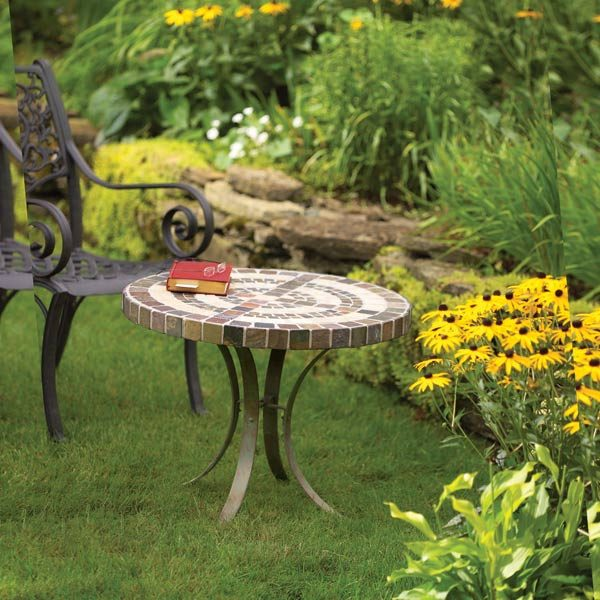 ... Garden Specials: Build an Outdoor Table With Tile Top and Steel Base