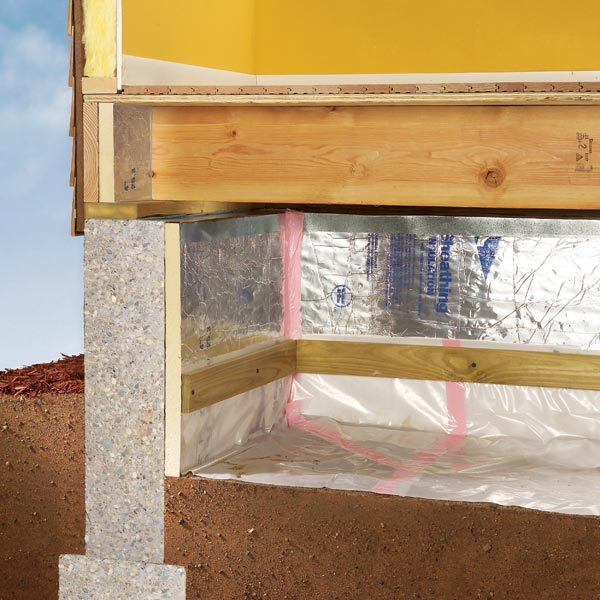 How To Install A Vapor Barrier In A Crawlspace The