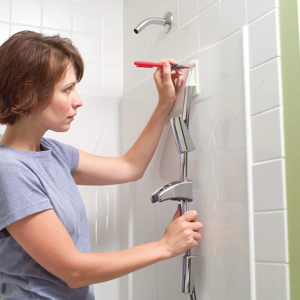 How To Install Towel Bars And Hooks On Fiberglass Tub And