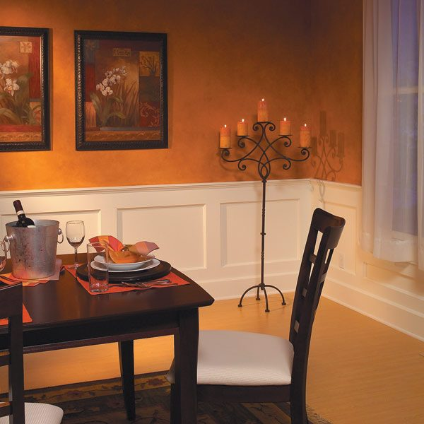 How to build a wainscoted wall the family handyman for Dining room no windows
