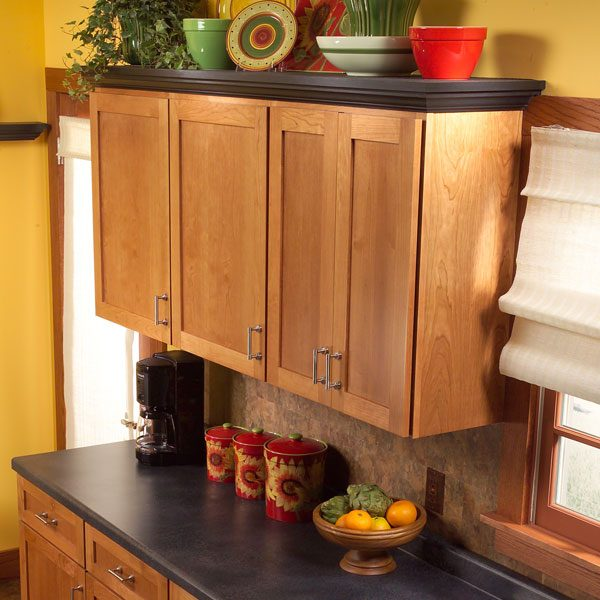 How to add shelves above kitchen cabinets the family for Adding drawers to existing kitchen cabinets