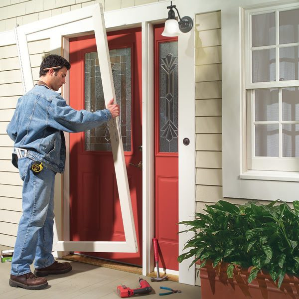 screen replacement retractable installation door patio sliding parts larson doors storm