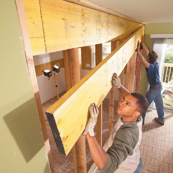 How to Install a Load-Bearing Beam : The Family Handyman