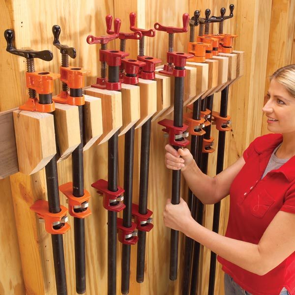 Storage How To Store Clamps The Family Handyman