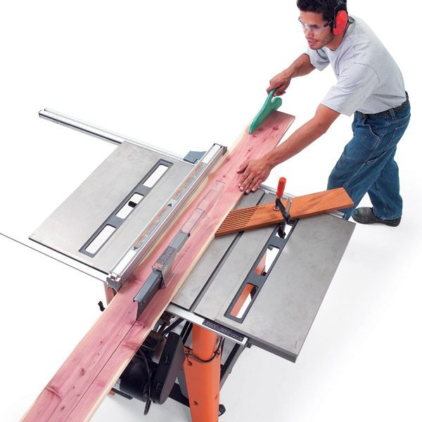 how to cut a tapered board on a table saw 1