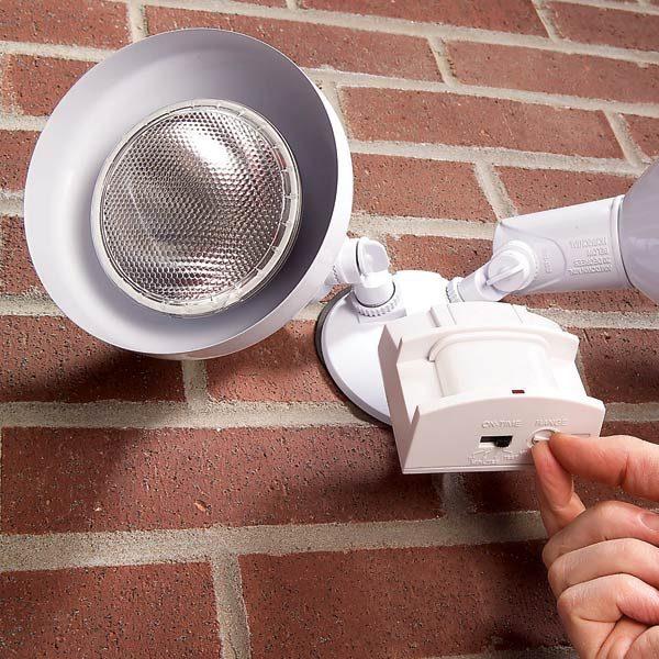adjust motion detectors the family handyman. Black Bedroom Furniture Sets. Home Design Ideas
