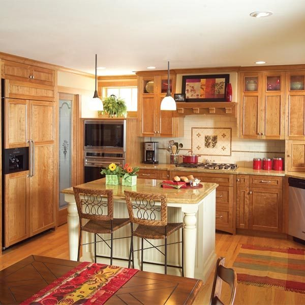 Kitchen Cabinets Or Open Shelving We Asked An Expert For: Create An Open, Craftsman-Style Kitchen