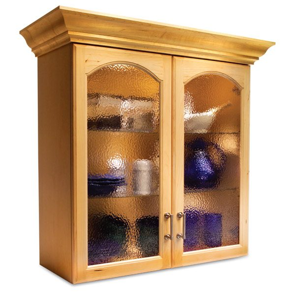 Convert wood cabinet doors to glass the family handyman for Diy glass kitchen cabinet doors