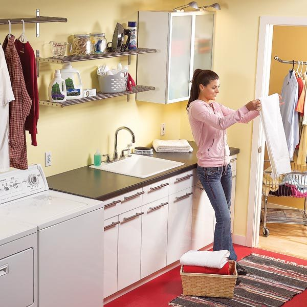 Convert An Unfinished Laundry Area Into A Laundry Room