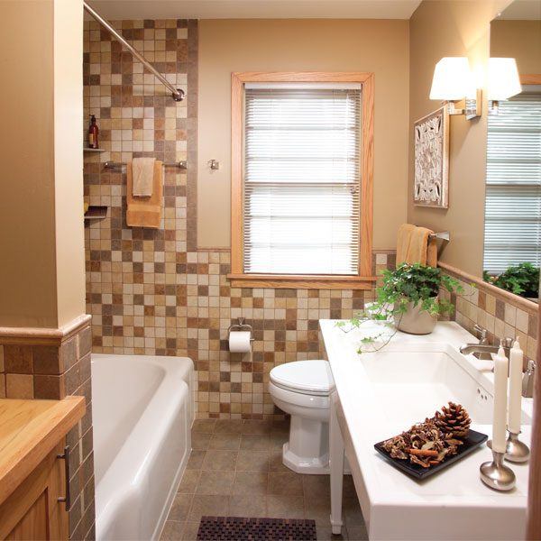 A Small Bathroom That Feels Big The Family Handyman - Family dollar bathroom makeover
