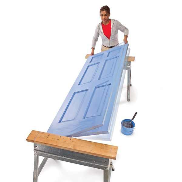 best way to paint interior doors