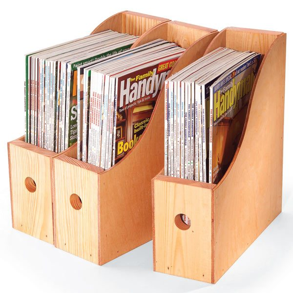 good way to archive your old how-to magazines? Build these simple wood ...