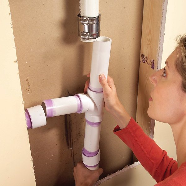 Tricks For Splicing Plastic Drain Pipe The Family Handyman