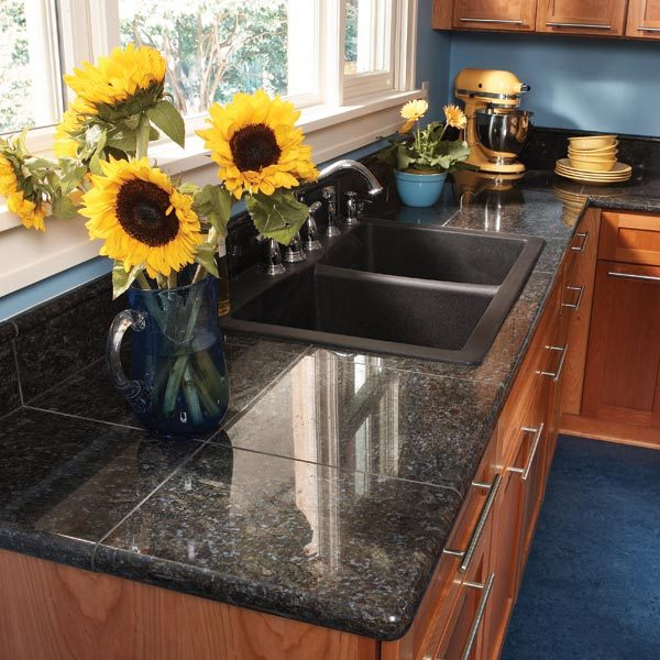 Countertop Material Weight : Granite Countertops: How to Install Granite Tile The Family Handyman