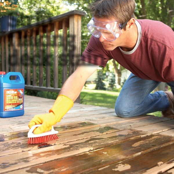 How To Remove Flaking Deck Stain The Family Handyman
