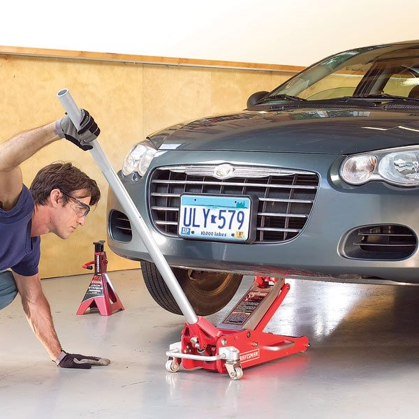 Car repair car jack safety the family handyman for Bureau automotive repair