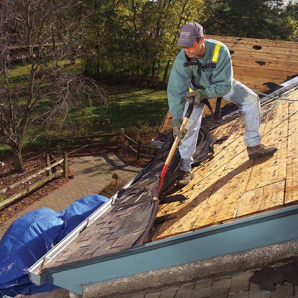 How To Repair Leaking Roof Roof Removal: How To Tear Off Roof Shingles | The Family ...
