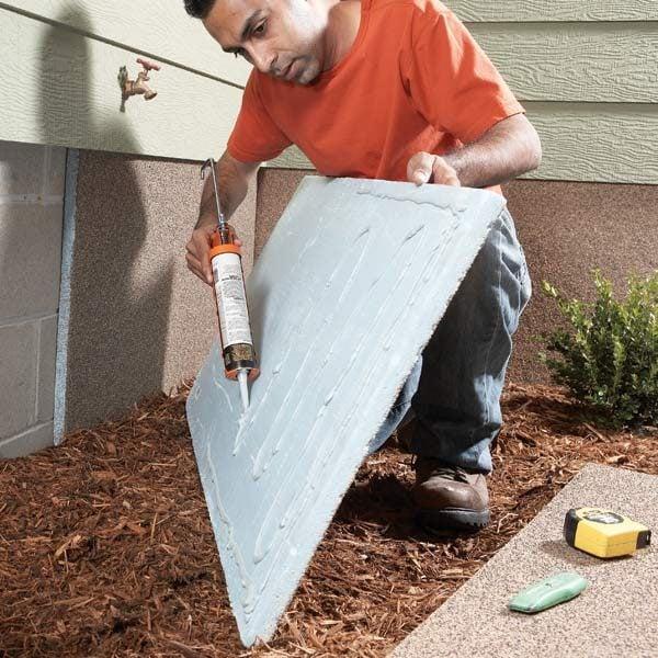 How to install exterior foundation insulation